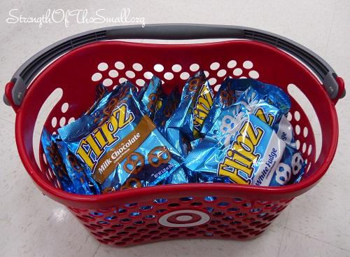 Target Basket Full of Flipz Pretzels.
