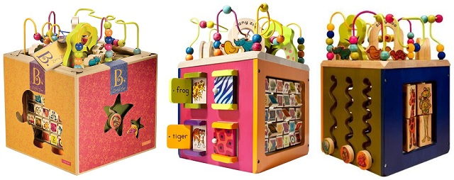 B. Zany Zoo Wooden Activity Cube.