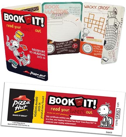Book It!® Reading Program Passport & Certificate.