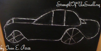 Car Drawing by my then 2 1/2  year old.