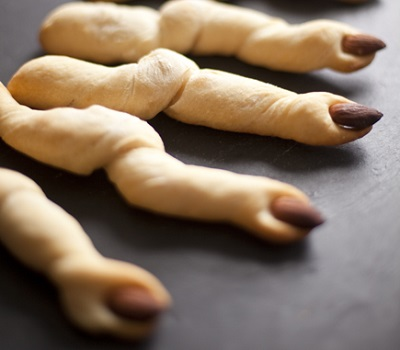 Ghoulish Breadsticks. Source.
