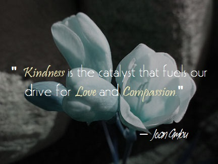 """Kindness is the catalyst that fuels our drive for Love and Compassion."" — Joan Ambu"