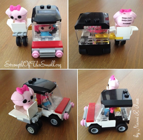 LEGO Mini Car with Pet Sidecar.