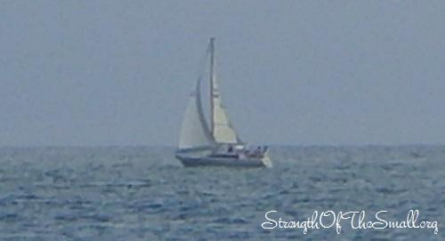 Lone Sailboat.