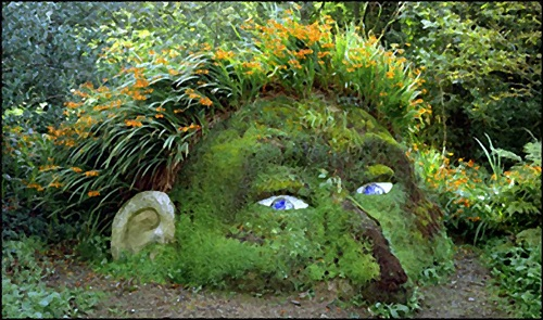 The Giant's Head by Susan & Pete Hill. Lost Gardens of Heligan.