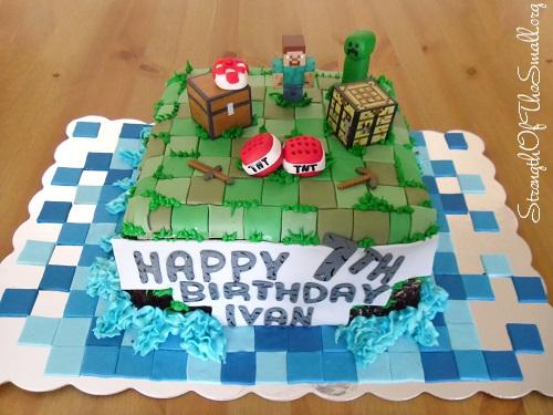 Minecraft Cake by Stephanie's Sweet Creations.
