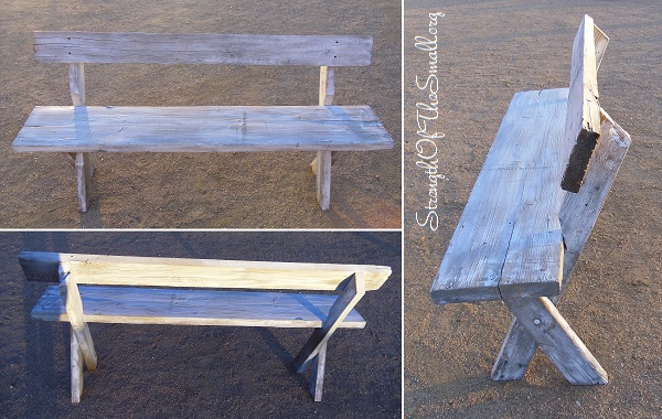 Reclaimed Primitive Wood Bench.