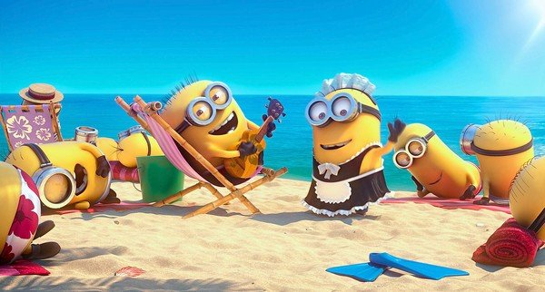 Despicable Me 2: Minions on The Beach.