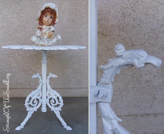 Vintage Cast Aluminum Side Table.