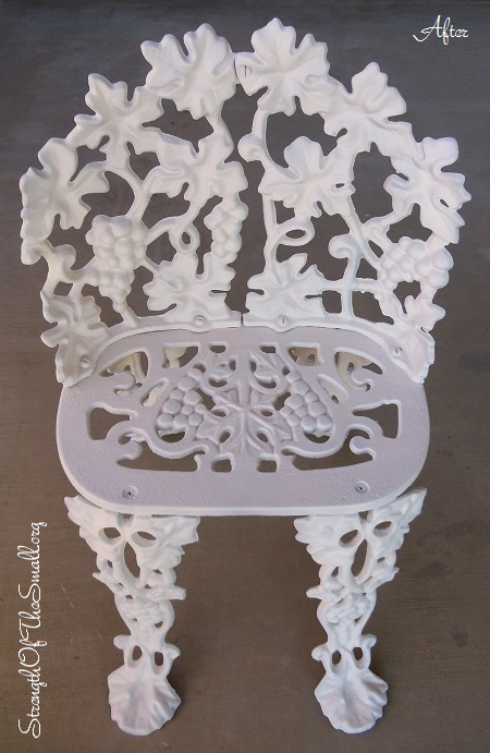 Vintage Cast Iron Chair.