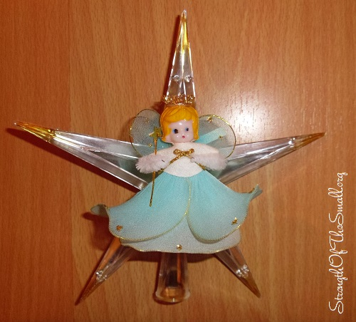 Vintage Angel Tree Topper Christmas Decorations Strength Of The Small Finding