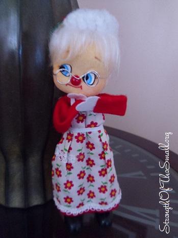 Vintage Mrs Santa Claus.