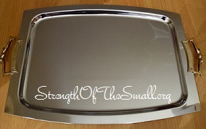 Vintage Stainless Steel Tray.
