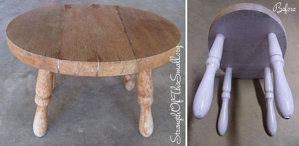4-Leg Vintage Footstool.